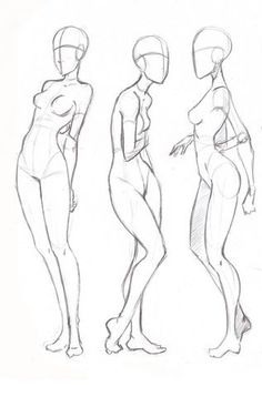 Female standing poses