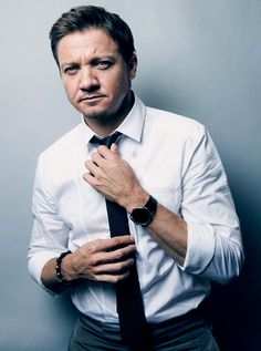 Jeremy Renner. He isn't your classic handsome..but there is something so sexy about him