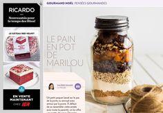 Pensées gourmandes: le pain en pot de Marilou - La Presse+ Pots, Bon Appetit, Biscuits, Muffins, Oatmeal, Brunch, Food And Drink, Moment, Drinks