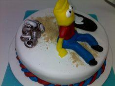 Bart Simpson's skate cake