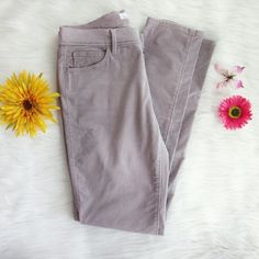 Loft modern skinny lavender cords Perfect spring pants! Lovely spring color and warm for cool spring evenings. New without tags. No longer available in this color on website.  Waist laid flat 15.5 inches. Inseam 31 inches. Ride 9 inches. 98% cotton. 2% spandex.  Bundle for best deals! Hundreds of items available for discounted bundles! You can get lots of items for a low price and one shipping fee!  Follow on IG: @the.junk.drawer LOFT Pants Skinny