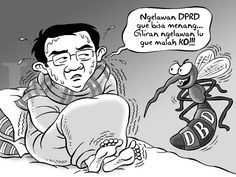 Kartun Benny: Menang Melawan DPRD dan Mafia, Kalah Sama Nyamuk DBD