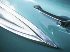 size: Photographic Print: Close-Up of a Shiny Chrome Door Handle and Decoration on a Vintage Turquoise Car : Subjects Chrome Door Handles, Vintage Turquoise, Car Posters, Find Art, Framed Artwork, Artwork Ideas, Close Up, Transportation, Wallpapers
