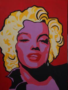 Painting of Marilyn Monroe by Tanya Garland