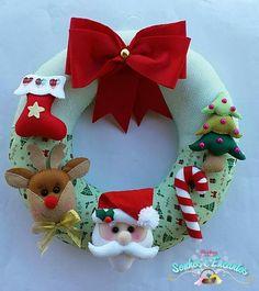 All Things Christmas, Christmas Crafts, Xmas, Christmas Ornaments, Felt Banner, Fabric Wreath, Air Dry Clay, Felt Toys, Felt Ornaments