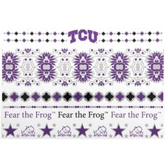 TCU Horned Frogs Metallic Fashion Tattoos - $9.59