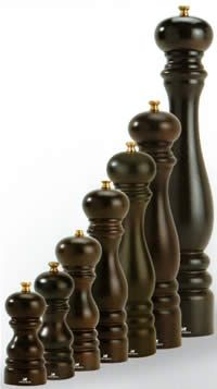Peugeot peppermills - Paris chocolate bois from Richard Dare, Primrose Hill, London NW1, UK