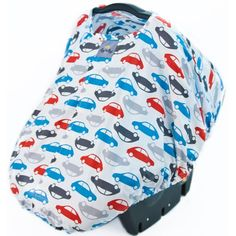 Peek-A-Boo Pod in Rodeo Drive Car Print for Baby Boys. What is a Peek-a-boo Pod? It's a convenient fabric shell pod that turns your baby's car seat into a safe haven where your little one is protected from wind, sun, germs, and prying fans.