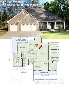 Architectural Designs House Plan 59436ND comes to life! It has