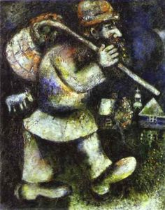 The Wandering Jew, 1925 - Marc Chagall http://www.wikipaintings.org/en/marc-chagall/the-wandering-jew-1925