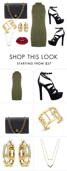 """Out and About"" by elysse-r on Polyvore featuring WearAll, GUESS, Chanel, Vita Fede, Swarovski, Michael Kors, women's clothing, women's fashion, women and female"