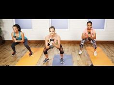 30-Minute Full-Body Workout to Burn Calories | Get Fit 2015 Challenge - Great circuit training video, complete with warm up and weights