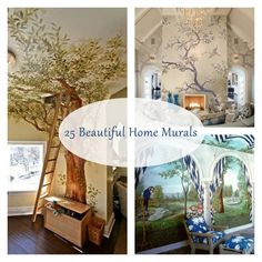 Add a splash of color and stunning design to your wall with these inspiring home murals...