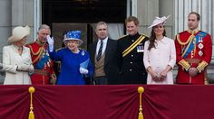 Camilla Duchess of Cornwall, Prince Charles The Prince of Wales, Queen Elizabeth II, Prince Andrew The Duke of York, Prince Harry of Wales, Kate Duchess of Cambridge and Prince William The Duke of Cambridge