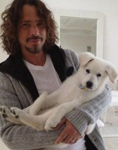 Chris Cornell...with a puppy!!!!