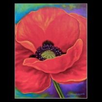 Red Poppy Flower Painting Postcard ...BTW,Please Check this out: http://artcaffeine.imobileappsys.com