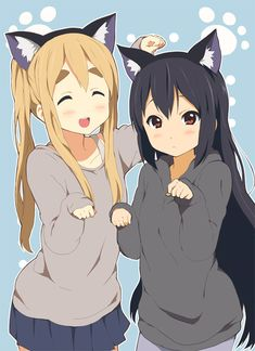 mugi x azusa >^.^neko mugi x azusa >^. Anime Neko, K On Anime, Kawaii Anime Girl, Manga Anime, Anime Art, Anime Girls, Tamako Love Story, Kyoto Animation, Another Anime