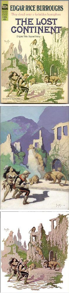 FRANK FRAZETTA - The Lost Continent by Edgar Rice Burroughs - 1963 Ace Books - print/cover by capnscomics.blogspot.com