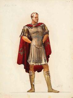 A Emile Santiago sketch for 'The Robe', 1953 (color).