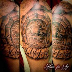 Manchester United Munich Disaster Remembrance Clock Tattoo