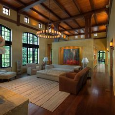 1000 images about vaulted ceiling for great room on for Great room lighting high ceilings