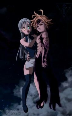 Elizabeth e Meliodas Elizabeth Seven Deadly Sins, Seven Deadly Sins Anime, 7 Deadly Sins, Seven Deadly Sins Tattoo, Anime Meliodas, Meliodas Vs, Otaku Anime, Manga Anime, Morgana League Of Legends