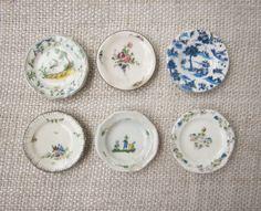 6 vintage french feves Nativity Set porcelain by 5LittleCups