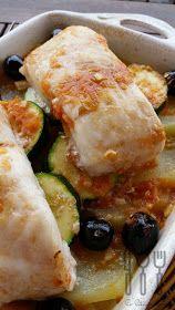 Las cosas de mi cocina: Merluza al horno {de Carme Ruscalleda} Chefs, Carme Ruscalleda, Fish Recipes, Healthy Recipes, Healthy Food, Zucchini, Sushi, Seafood, Food And Drink