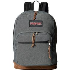 JanSport Right Pack Expressions (Blue Micro Check Denim) Backpack Bags ($64) ❤ liked on Polyvore featuring bags, backpacks, laptop pocket backpack, laptop rucksack, padded laptop bag, jansport rucksack and jansport