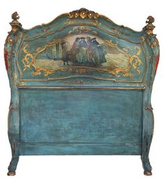 Pair Of Venetian Twin Headboard & Footboard Beds   From a unique collection of antique and modern beds at http://www.1stdibs.com/furniture/more-furniture-collectibles/beds/
