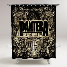 PANTERA COWBOYS FROM HELL HEAVY METAL ROCK MUSIC BAND UNIQUE SHOWER CURTAIN (Copy)