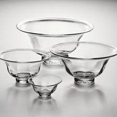 Simon Pearce Glass Bowls - so elegant