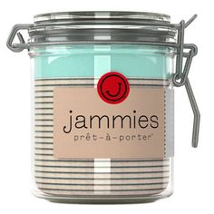 Jammies = Pajamas in a Jam Jar. Amazing.