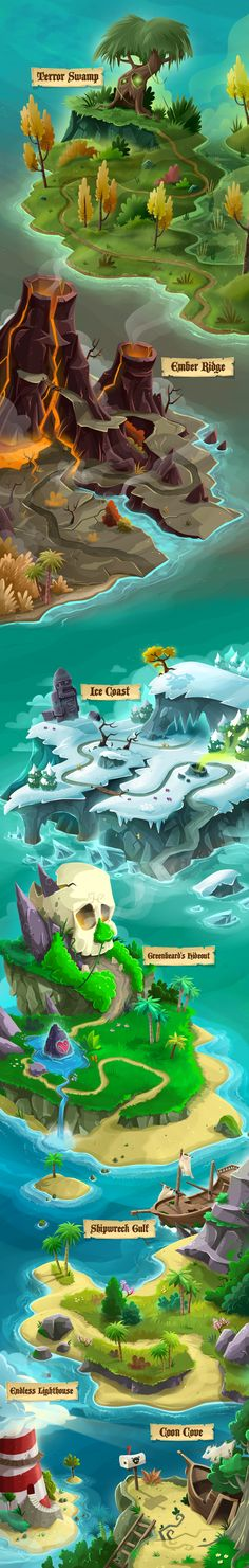 Casual game graphics / The Adventures of Capcoon on Behance