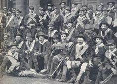 The Irish Brigade who fought alongside the Boers against the British army in the Anglo-Boer War. John Blake is sitting in the front row to . Fight For Freedom, African History, British Army, World History, Military History, South Africa, Illustration, The Past, United States