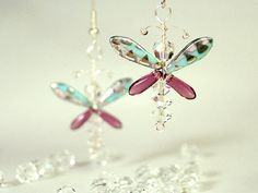 Love these earring beautifully made and easy to wear Ali These exquisite butterfly / fairy earrings are hand crafted from Swarovski Crystal,