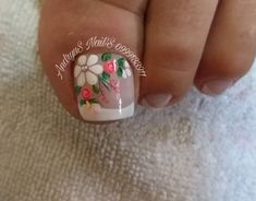 Feet Nail Design, New Nail Art Design, Pedicure Designs, Toe Nail Designs, Feet Nails, Toe Nail Art, Nail Decorations, French Nails, Nail Arts