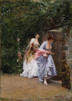 Nittis, Giuseppe de Return from Ball, 1883 Italian Art, Old Master, Photo Reference, Famous Artists, Easy Drawings, Drawing Sketches, Female Art, Art Gallery, Flower Girl Dresses