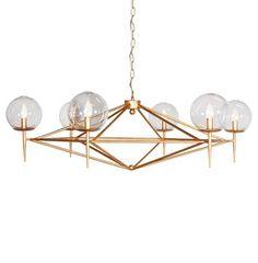 Sputnik Hollywood Regency Retro Gold Chandelier