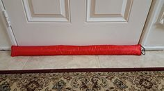 Door Draft Stopper - 37 inches 1.4 Lbs - Heavy Duty Durable Door Bottom Seal Blocker for Hot or Cold Air and Soundproofing - Bonus Storage Bag - (Red) Monikas Marketplace http://www.amazon.com/dp/B018ZOI5UE/ref=cm_sw_r_pi_dp_KG8Lwb0R3P69V