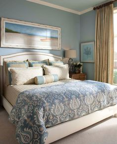 bedroom interiors --blue beauty