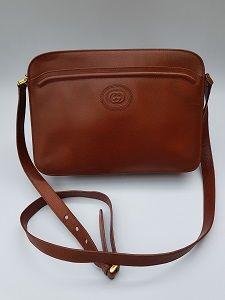 Gucci Bag Gucci Vintage Brown Leather Shoulder Crossbody Bag Italian Designer Purse Bags Gucci Bag Bags Designer