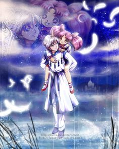 The Eternal Moon Kingdom Sailor Chibi Moon & Pegasus Helios & Chibiusa