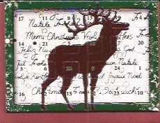 Mini Adventskalender: Christmas rendier met envelopje € 1,50