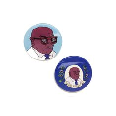 ♡ 1 3/4 Button  ♡ 2 buttons per pack  We've created 1 3/4 buttons with our original John Lewis illustrations,  so you can get into some Good Trouble and wear it, too.   This pin pack features our classic Good Trouble illustration as well as a sunglasses wearin' version - because sometim