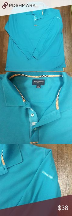 Mens Burberry golf Polo shirt / L 100% Cotton Men's Burberry gif polo shirt  SIZE L  VERY GOOD Pre-loved condition  SMOKE /PET FREE HOME Burberry  Shirts Polos