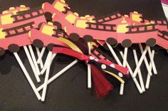 One Dozen Fire truck Cupcake Sticks by PaperYourParty on Etsy, $10.50