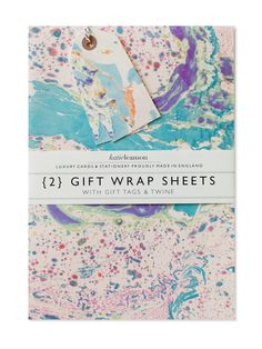 Marbled Peacock Wrap Set   Sycamore Street Press Peacock wrapping paper from Katie Leamon featuring an original marbled design.— Packs of 2 neatly folded sheets. 2 matching gift tags. Printed on 100gsm paper. 500 x 700mm. Made in EnglandKatie Leamon is a luxury card and stationery brand with a design studio in the heart of London and a family run production studio in the English countryside. They design, create, & deliver beautiful, hand finished collections of original paper products....