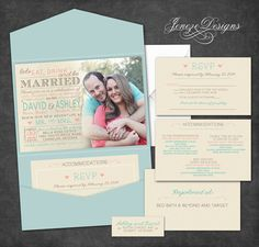 Hey, I found this really awesome Etsy listing at https://www.etsy.com/listing/183930365/custom-pocket-fold-wedding-invitations