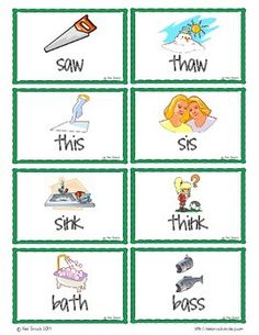 TH and S Minimal Pair Flashcards